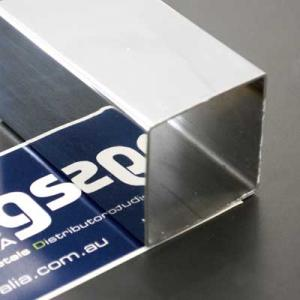 Tube Square 1.5mm (Wall) x 15.0mm, Mirror Finish, 316  (2-metres)