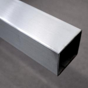 Tube Square 1.6mm (Wall) x 25.40mm, #180 Grit, 316 (2 metres)