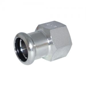 """Female Adapter 2""""x54mm 316L BSPP Thread w/ Black EPDM O-Ring Inoxpres"""